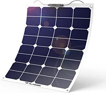 ALLPOWERS Solar Panel 18V 12V 50W Bendable SunPower Solar Cell Water/Shock/Dust Resistant Solar Power Charger for RV, Boat, Cabin, Tent, Car, Trailer, Camping or Any Other Irregular Surface