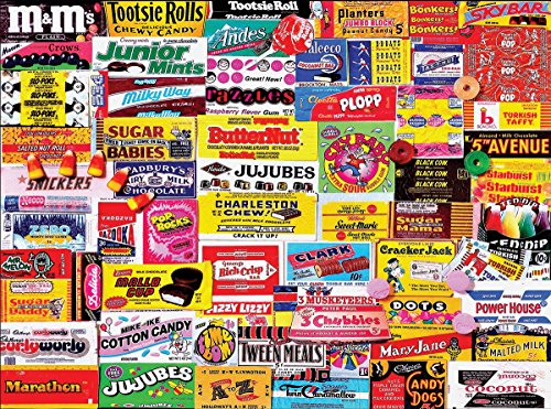 White Mountain Puzzles Candy Wrappers - 1000 Piece Jigsaw Puzzle made in New England