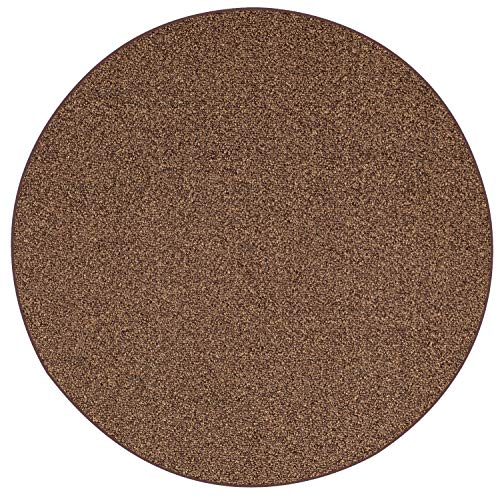 (Home Queen Outdoor Artificial Turf Chestnut Area Rugs with Premium Non Skid Backing Great for Decks, Patio's & Gazebo's to Pools, Docks & Boats and Other Outdoor Recreational Purposes 4' Round)