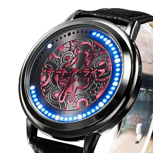 Relojes De Pulsera,Pantalla Táctil Led Relojes Impermeables Fecha Gran Batalla Animación Circunferencia para Dibujar Relojes Personalizados A: Amazon.es: ...