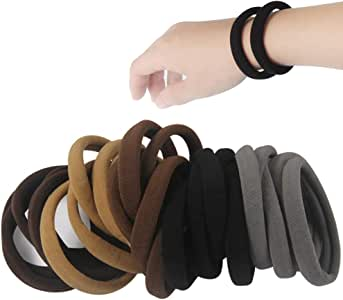 20 PCS Large Seamless soft Hair Ties Band for Thick and Curly Hair bulk