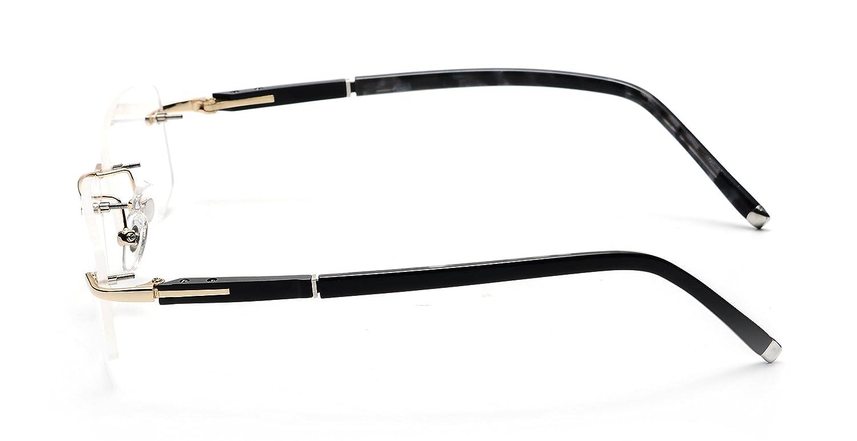 728d6d04b5fb Amazon.com: JNS Titanium Frame Glasses Prescription Lens Eyeglasses Metal  Rimless: Home & Kitchen