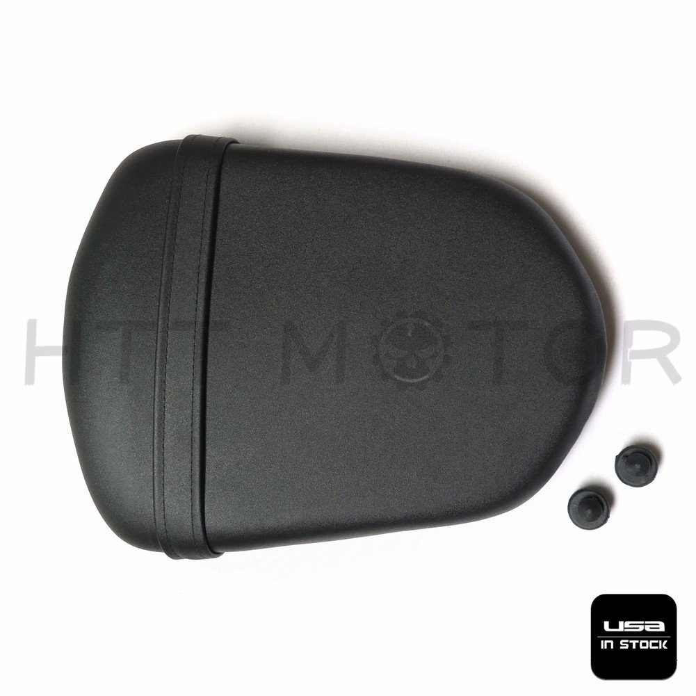 HTTMT PK0607 US Stock Pu Leather Passenger Rear Seat Pillon Cover Compatible with Kawasaki ZX6R 2007-2008