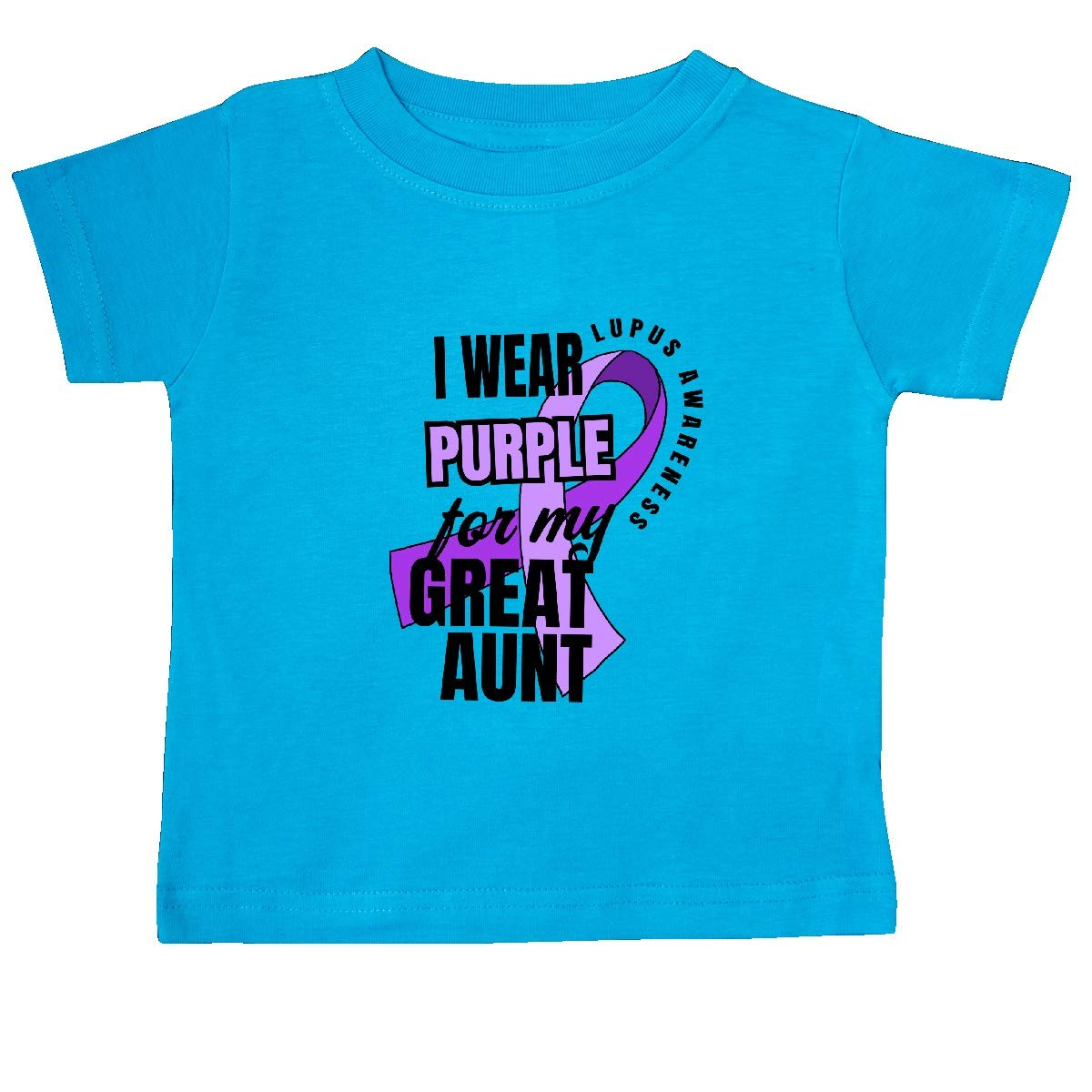 inktastic I Wear Purple for My Great Aunt Lupus Awareness Baby T-Shirt
