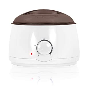 Salon Sundry Portable Electric Hot Wax Warmer Machine for Hair Removal - Black Lid