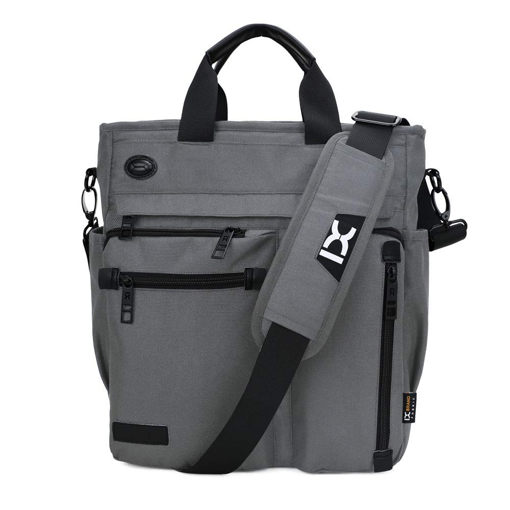 Mens casual bag waterproof polyester multi-function shoulder bag large capacity outdoor bag black shoulder