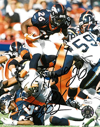 Clinton Portis Signed Denver Broncos Autographed 8x10 Photo JSA #R98702