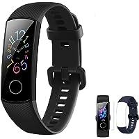 HONOR Band 5 Fitness Tracker Hartslagmeter AMOLED 0.95 Inch Smart Horloge 5ATM Waterdichte Bluetooth 4.2 (Zwart)
