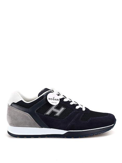 Hogan Hombre HXM3210Y861KEH6EDU Azul Gamuza Zapatillas: Amazon.es: Zapatos y complementos