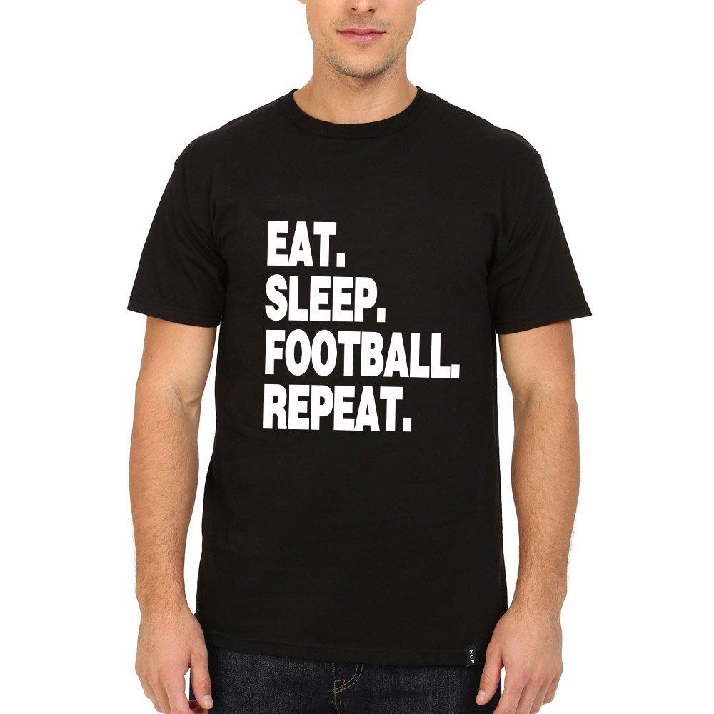 Loo Show S Eat Sleep Football Repeat T Shirt Tee
