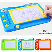 FOBHIYA International Educational Doodle Magic Plastic Writing Slate Toy Pad Drawing Board with Pen & Magnetic Shapes for Kids