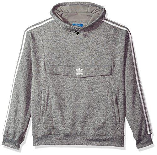 adidas Originals Men's Anorak Hoodie, Grey Four/White, - Originals Zipper Adidas