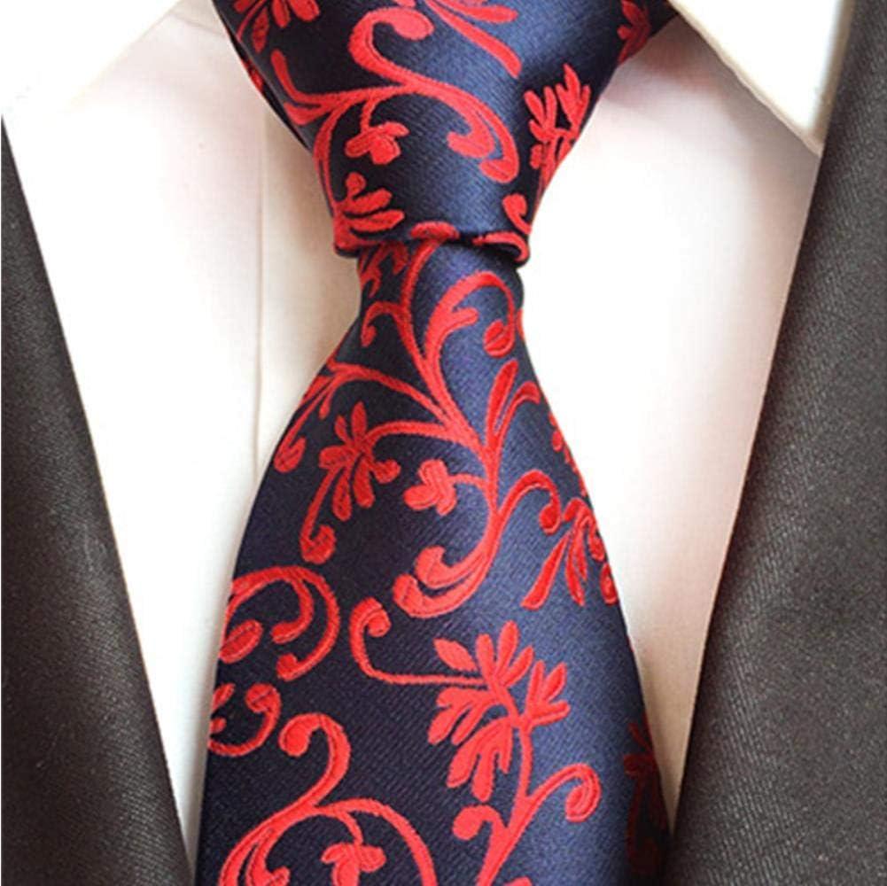 Súper Precio Reducido Huien 8cm Corbata Formal Amarillo Rojo Floral Jacquard Corbata para Hombres Negocios Boda Fiesta Corbatas Corbatas Regalos Corbata, a16 A13 CVnfs2 POS0WB