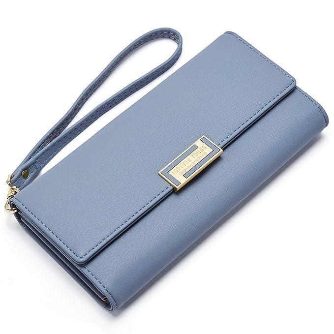 For Ladies Wallets Leather Card Purse Organizer Designer Women Clutch Trifold Credit Holder F1TKlJc