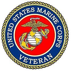 1Pc Perfect Popular United States Marine Corps Veteran Sticker Sign Outdoor Decals Windows Size 5 x 5