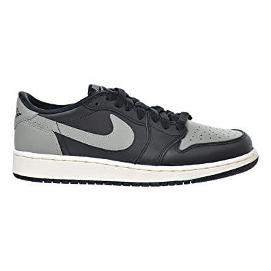 Jordan Air 1 Retro Low OG BG Big Kids Shoes Black/Medium Grey-Sail 709999-003