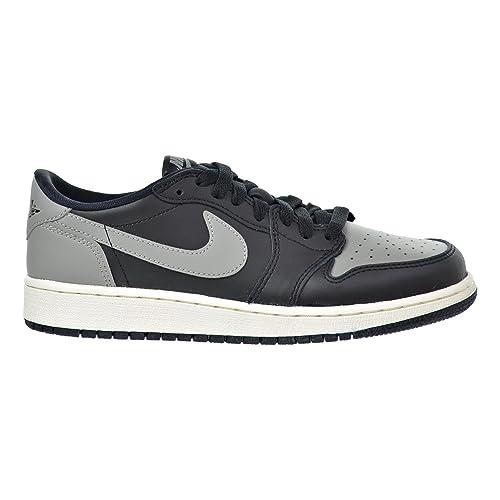 buy popular 5227a 449d9 Jordan Air 1 Retro Low OG BG Big Kid s Shoes Black Medium Grey-Sail