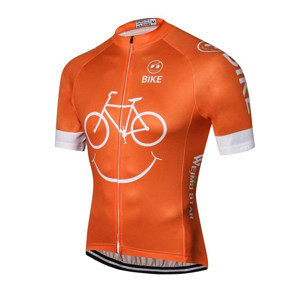 Cycling Jersey Breathable Quick-Dry Biking Shirt Men's Short Sleeve Bicycle Jersey Full Zip Bike Cycling Clothing jinjin sports