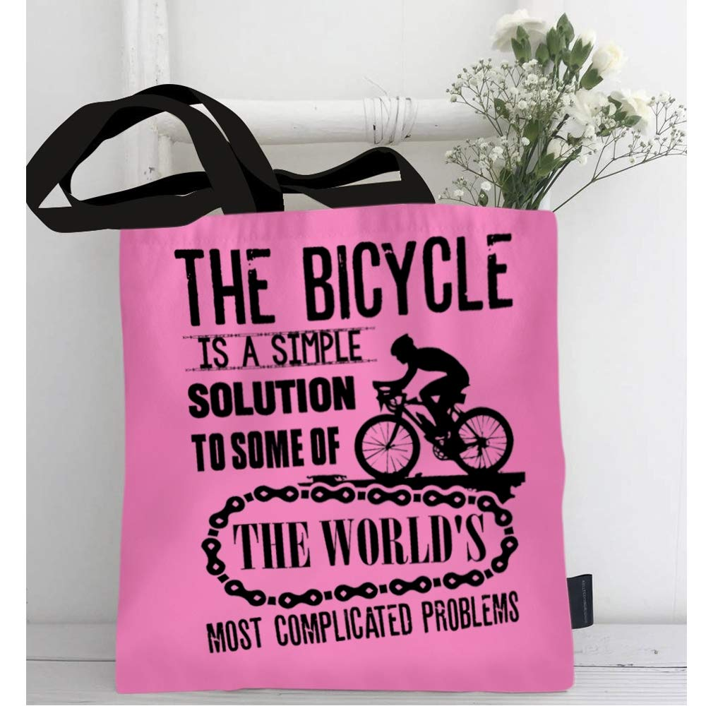 Amazon.com: The Bicycle Tote Bag for Shopping, I Love The Bicycle ...