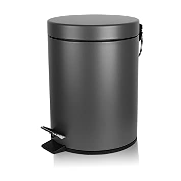 Mini Mülleimer für Badezimmer Büro mit Deckel Weiche Verschluss ...