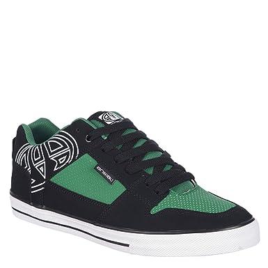 Animal Ellis Logo Boys Skate Shoe - Black / Green - UK 1 / EU 33