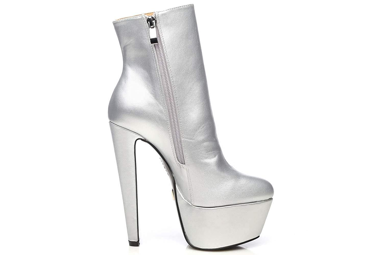 Giaro Selena Stiefelette Stiefelette Stiefelette in Übergrößen Silber Selena Silber Mate große Damenschuhe 5ccc23