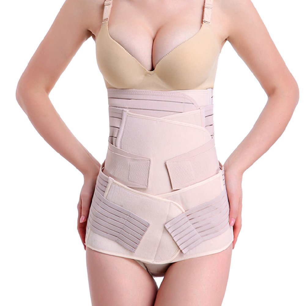 fee9b12e9f0f9 Amazon.com  Generic 3 in 1 Breathable Elastic Postpartum Postnatal Recoery Support  Girdle Belt for Women Maternity  Health   Personal Care