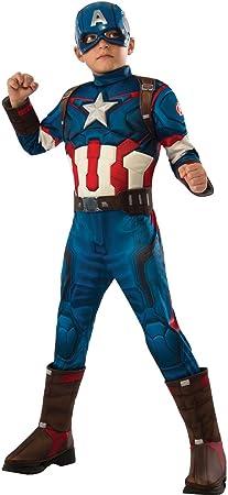 chiber - Disfraz de Capitán América niño. (Talla 10): Amazon.es ...