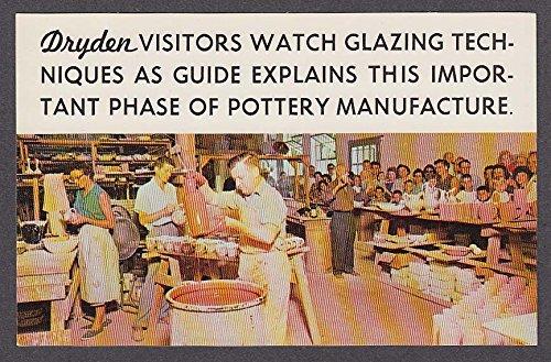 Dryden Potteries Inc Hot Springs National Park AR postcard 1960s