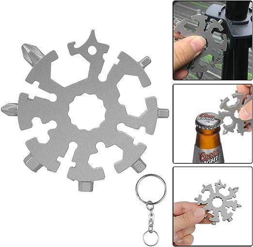 20 in 1 stainless steel multi-function screwdriver tool snowflake mini outdoor