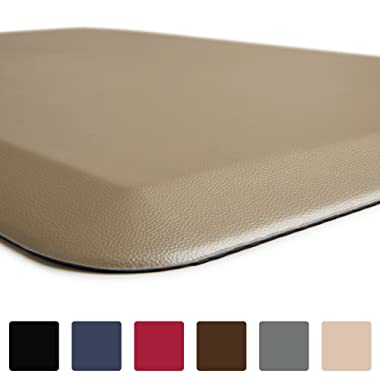 GORILLA GRIP Original 3/4  Premium Anti-Fatigue Comfort Mat, Phthalate Free, Ships Flat, Ergonomically Engineered, Extra Support and Thick, Kitchen and Office Standing Desk (32x20: Beige)