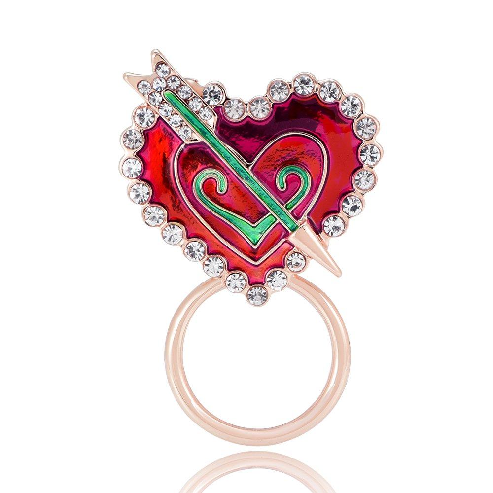 GUANDU Love-Heart Arrow Magnetic Eyeglass Holder for Women Teen Girls (Rose Gold) by GUANDU (Image #1)
