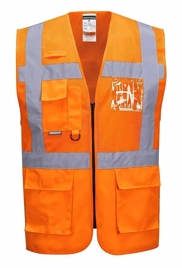 Portwest C496 - Madrid Ejecutivo del acoplamiento del chaleco, color Amarillo, talla 3 XL: Amazon.es: Industria, empresas y ciencia