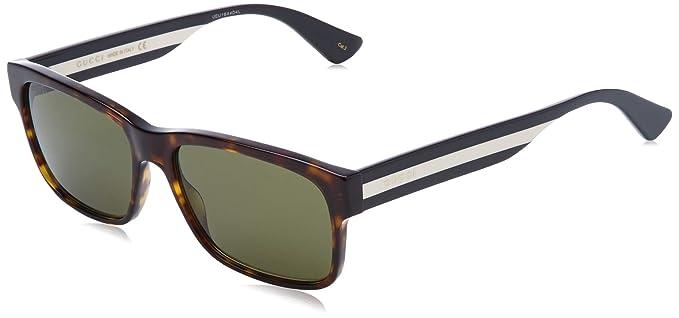 Gucci GG0340S-008 Gafas de sol, Havana, 58 para Hombre ...