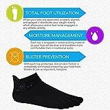 Mens No Show Toe Socks 6 Pairs Original Weight Low Cut Running Toe Socks 8-10.5