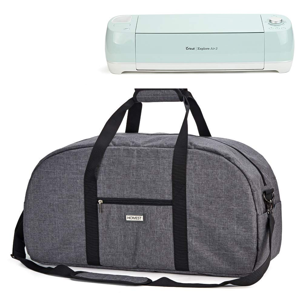 HOMEST Carrying Case, Fit 15.6'' Laptop, Compatible with Cricut Explore Air 2, Cricut Maker, Silhouette CAME03, Grey, Patent Pending