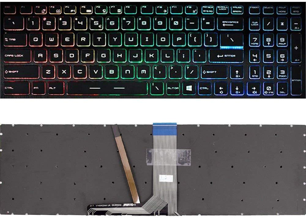 Laptop Replacement Keyboard with Backlight for MSI GS60 GS70 GT72 GE62 GE72 PE60 PE70 GT62 GL62 GL62M GP62 GL72 GP72 PE62 with Backlit Part Number V143422AK1 19000184 US Layout