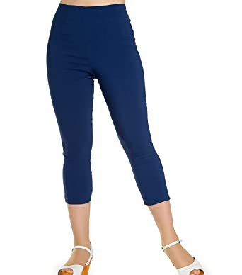 Image Unavailable. Image not available for. Color  Hell Bunny 50s Pedal  Pushers TINA Capris Capri Trousers Navy Blue ... 2044ff8bf