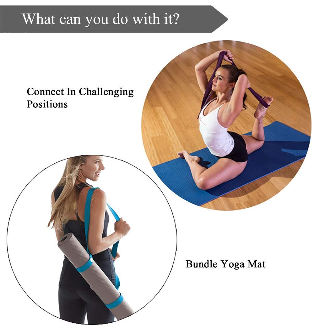 2 en 1 Coton R/églable Durable Courroie de Transport pour Tapis de Yoga,Pilate GCOA 2 pi/èces Tapis de Yoga Sangle de Transport Sling