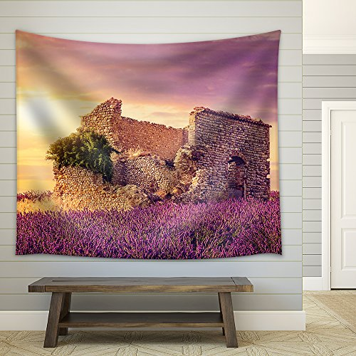 Evening Stadium Arena Soccer Field Championship Win Confetti and Tinsel Yellow Toning Fabric Wall Tapestry