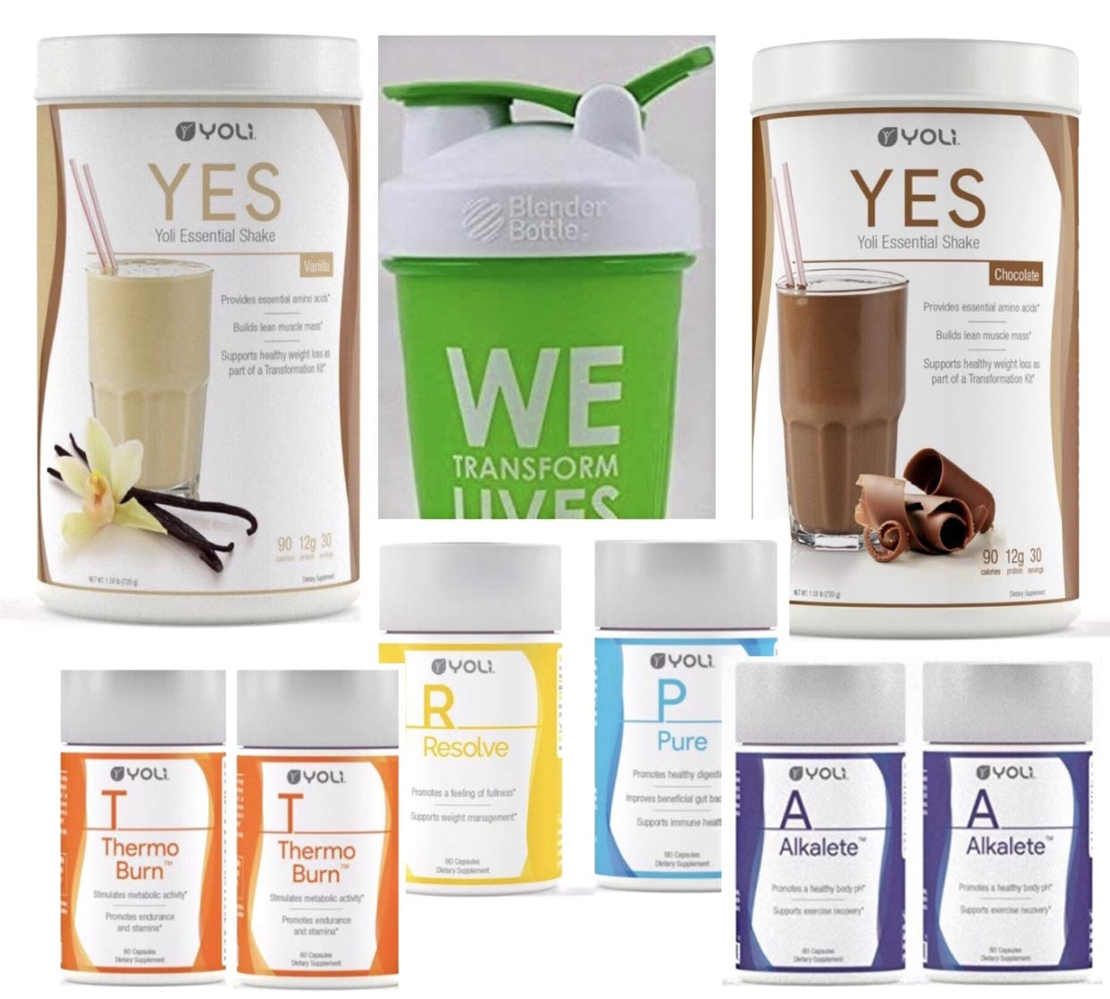 Yoli Weight Loss Kit - Thermo Burn Alkalete Pure