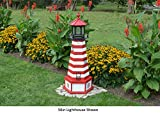 Amish-Made West Quoddy, ME Replica Lighthouse with Base, 44'' Tall