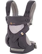 ERGObaby Baby Carrier Toddler 360 Cool Air Carbon Grey, 4 Ergonomic Carry Positions,Front Facing Baby Carrier, Child Carrier Backpack