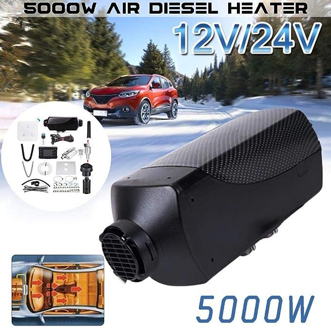 Miju Coche, 12 V calefacción de salpicaderos de Coche, Coche automóvil dégivrage y désembuage, con Monitor LCD Control Remoto para RV, A:12V: Amazon.es: ...