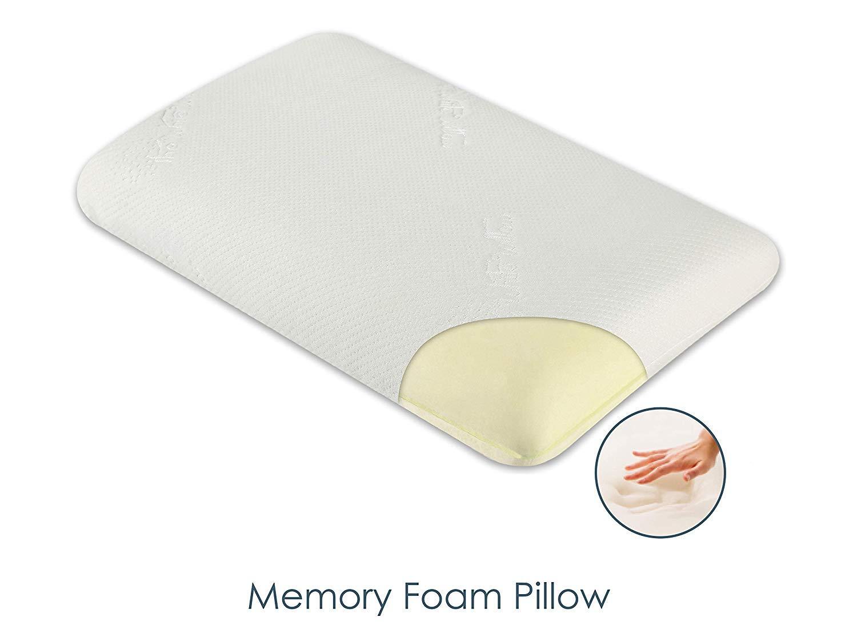 TheホワイトWillowシンソフトandフラット枕プレミアム品質Sleeping快適メモリフォームクッションLarge 15