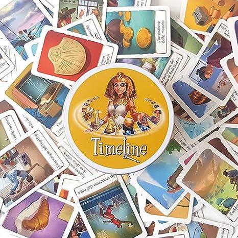 Asmodee- Timeline Classico-Juego de Bolsillo Edición Italiana, Color 8302: Amazon.es: Juguetes y juegos