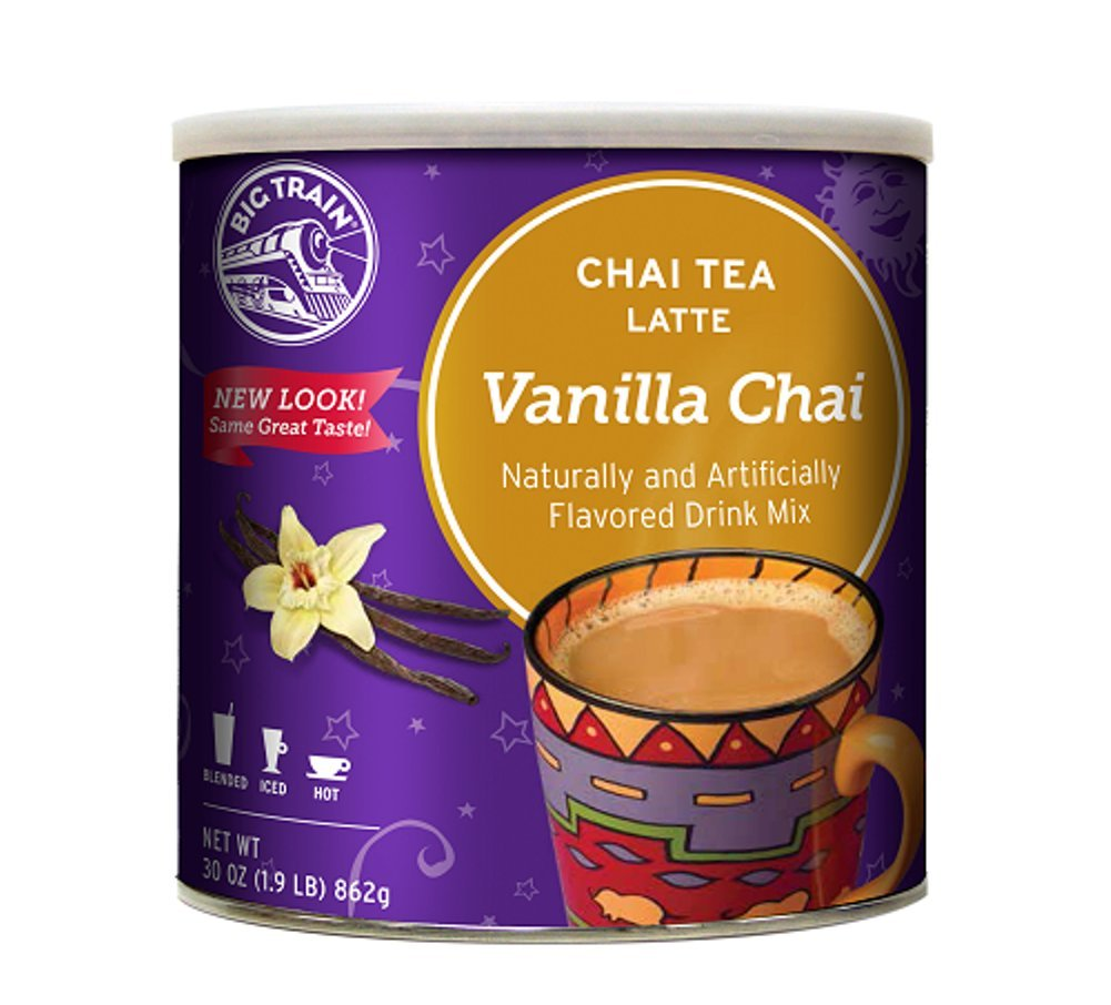 Big Train Vanilla Chai, 1.9-Pound Cans (Pack of 2) by Big Train