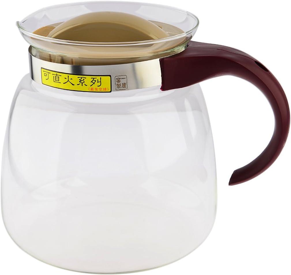 Glass Kettle, WOLFBUSH 1850ML Heat-resistant Gas Electric Stoves Glass Kettle Glass Tea Pot Kitchen Dining Teapots