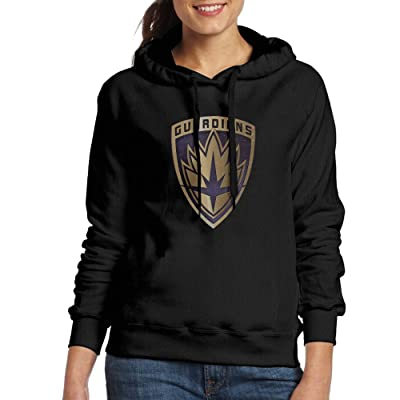 Guardians Of The Galaxy Icon Womens Cotton Hooded Sweatshirt Black