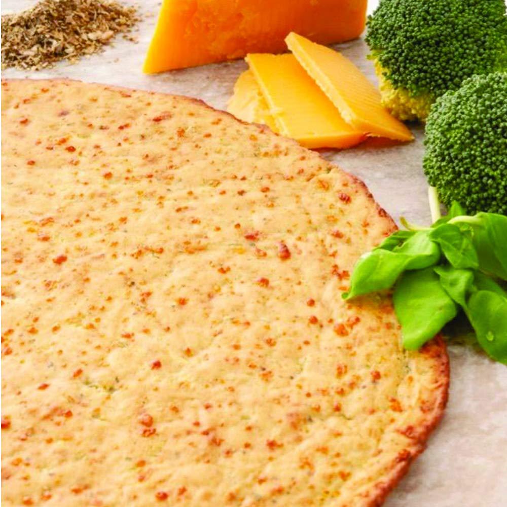 Edgy Veggie Seasoned Broccoli Gluten Free Thin Pizza Crust, Non GMO, 10'', 6 Pack